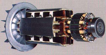 Schleifringloser Synchrongenerator
