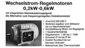 Integralmotor mit Umrichter im Klemmenkasten